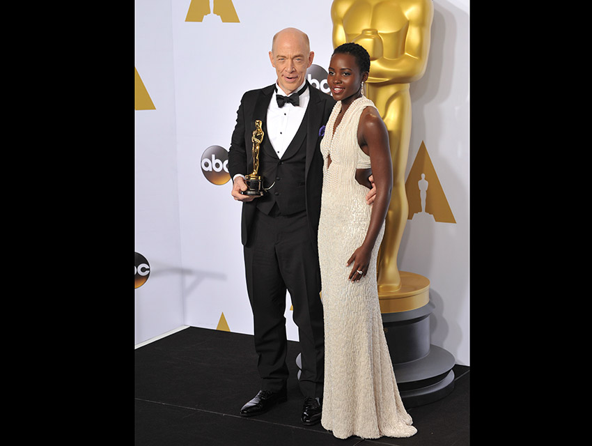 Lupita Nyong'o presented J.K. Simmons with his Best Supporting Actor Oscar