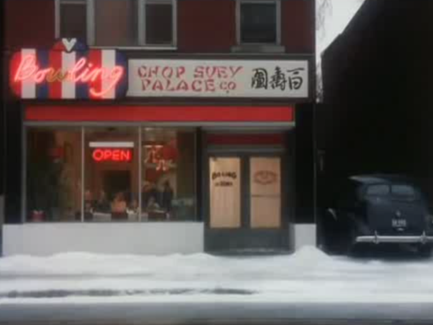 The last scene of A Christmas Story takes place at Bo Ling Chop Suey Palace