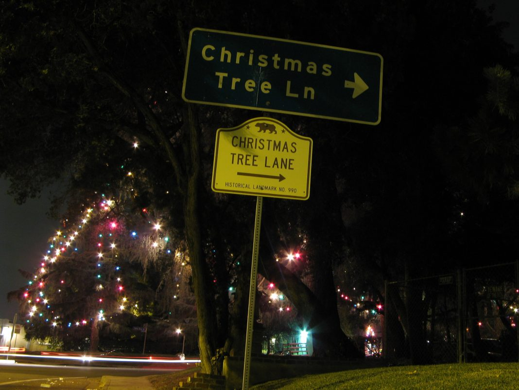 Christmas Tree Lane.The Origin Of Altadena S Christmas Tree Lane Light Displays