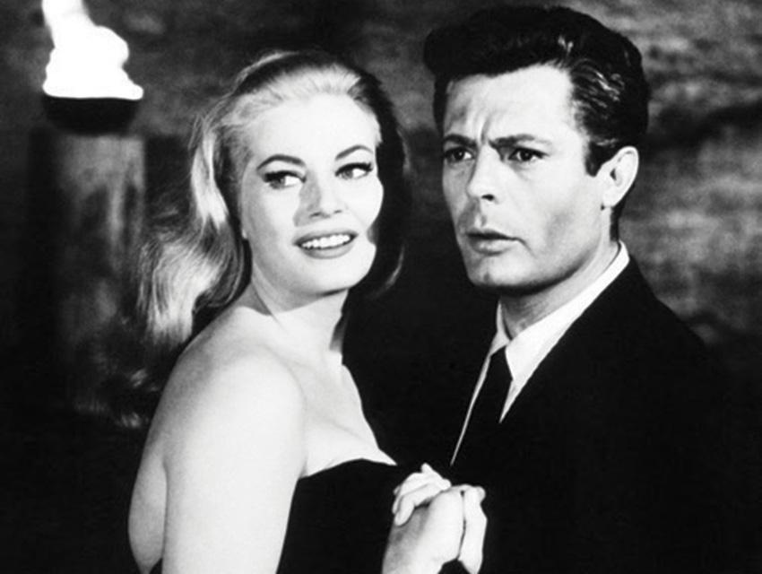 "The director unabashedly draws inspiration from Federico Fellini films like ""La Dolce Vita,"" starring Anita Ekberg and Marcello Mastroianni"