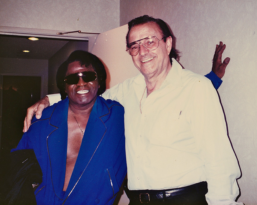 Frank Corrente and James Brown in 1997