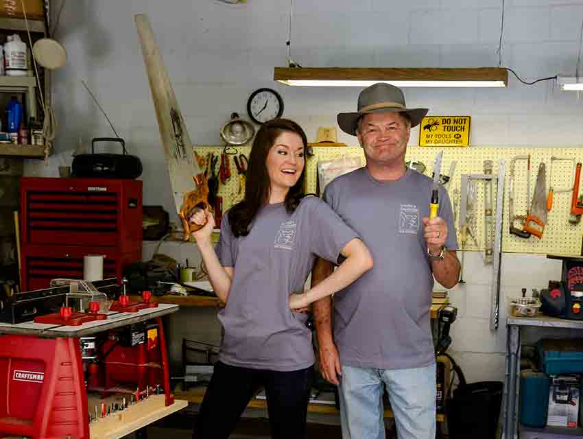 Micky Dolenz and his daughter Georgia at Dolenz & Daughters