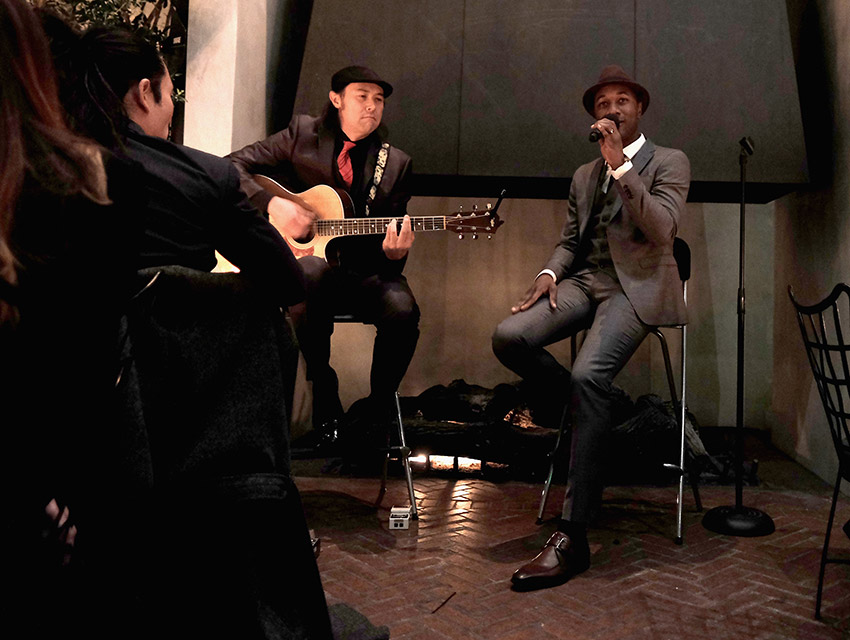 Aloe Blacc performing at IWC Schaffhausen opening
