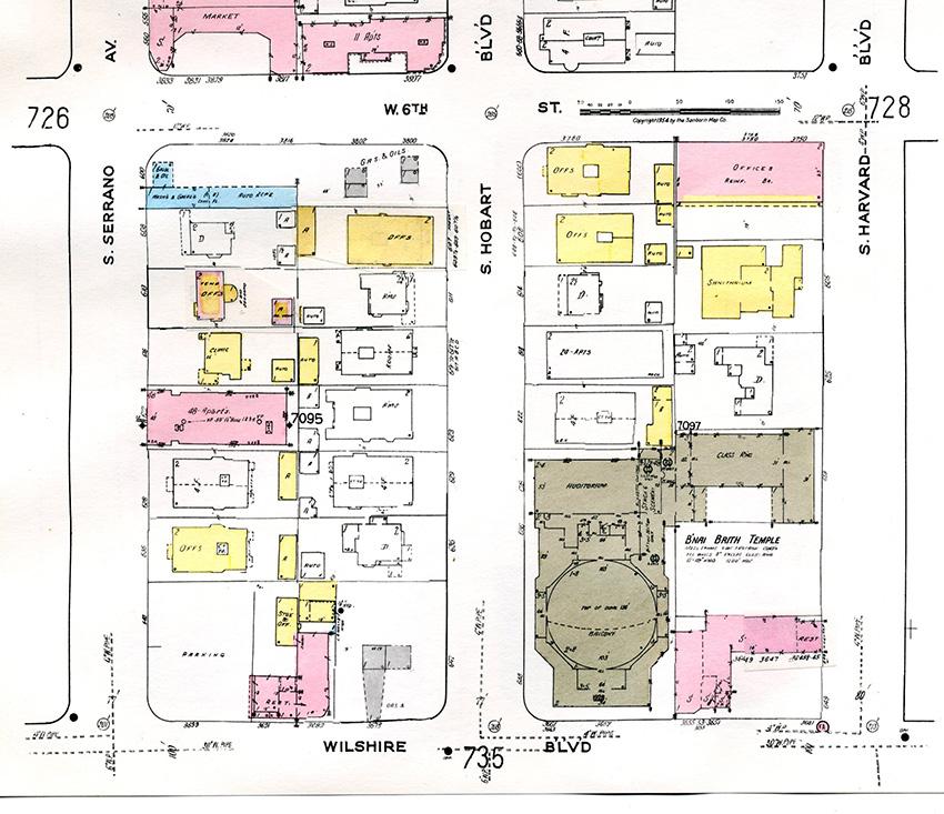 Sanborn Fire Insurance Atlases, Volume 7 sheet 727 1951