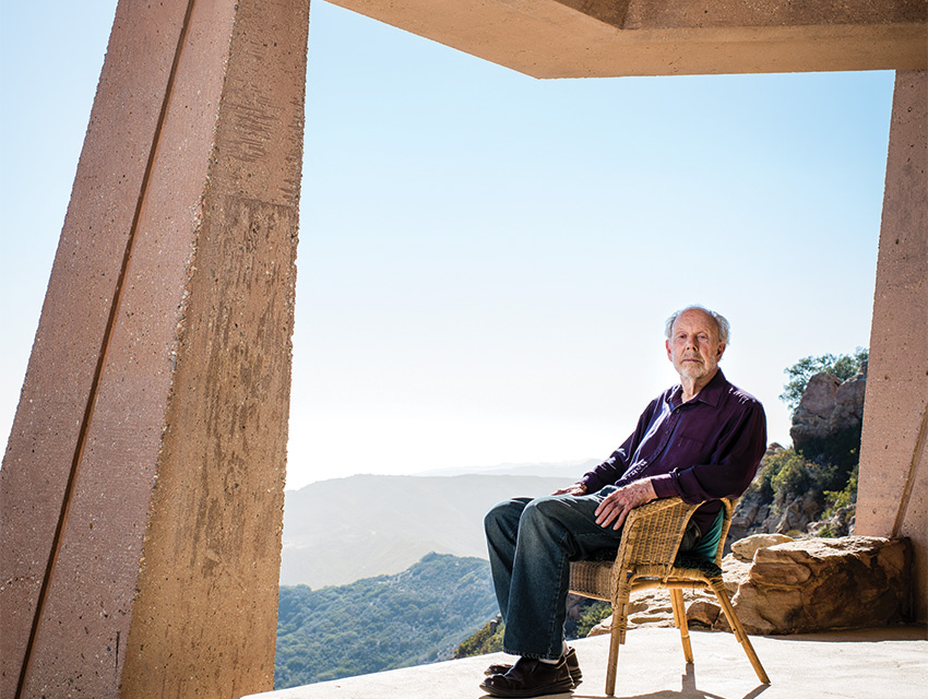 Wright has been working on his own home in the Malibu hills for decades