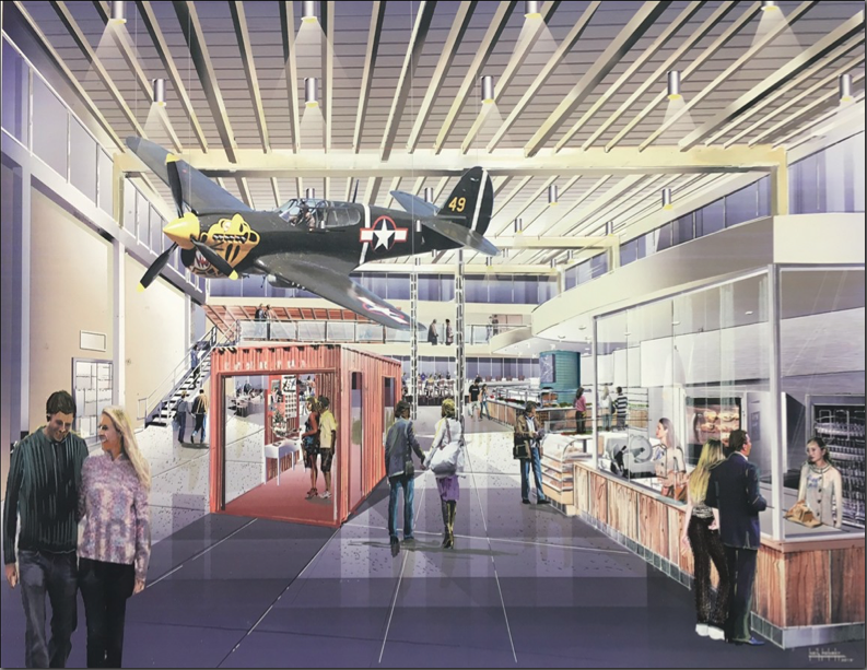 A Rendering Of The Upcoming Proud Bird Food Hall Makeover