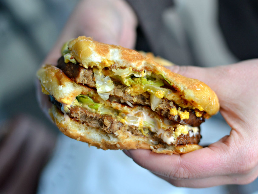 The vegan Big Mac from Doomie's
