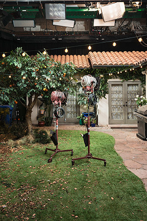 """The Bowman home on the """"Colony"""" set, shot at Radford Studios in Studio City."""