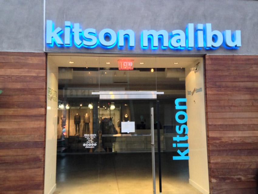 The shuttered Kitson Malibu at the Lumberyard
