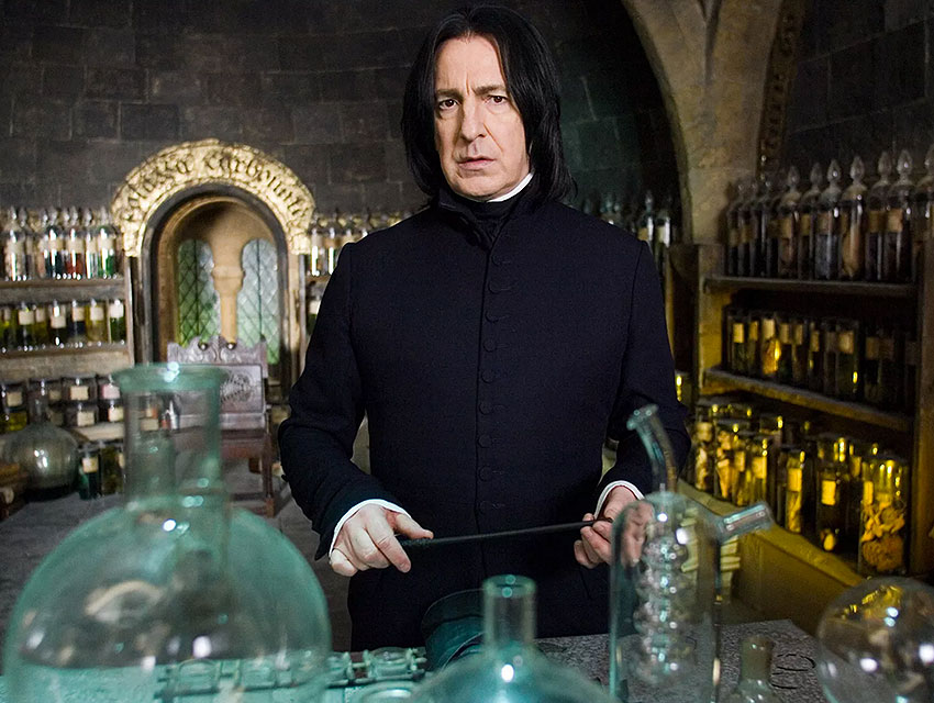 Rickman portrayed potions professor Severus Snape in eight Harry Potter films
