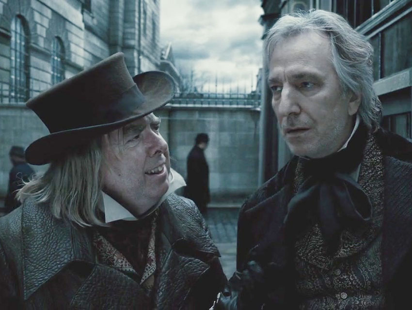 Rickman starred as Judge Turpin in Sweeney Todd alongside Johnny Depp.