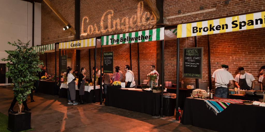 The event atmosphere at the third annual Best New Restaurants culinary tasting
