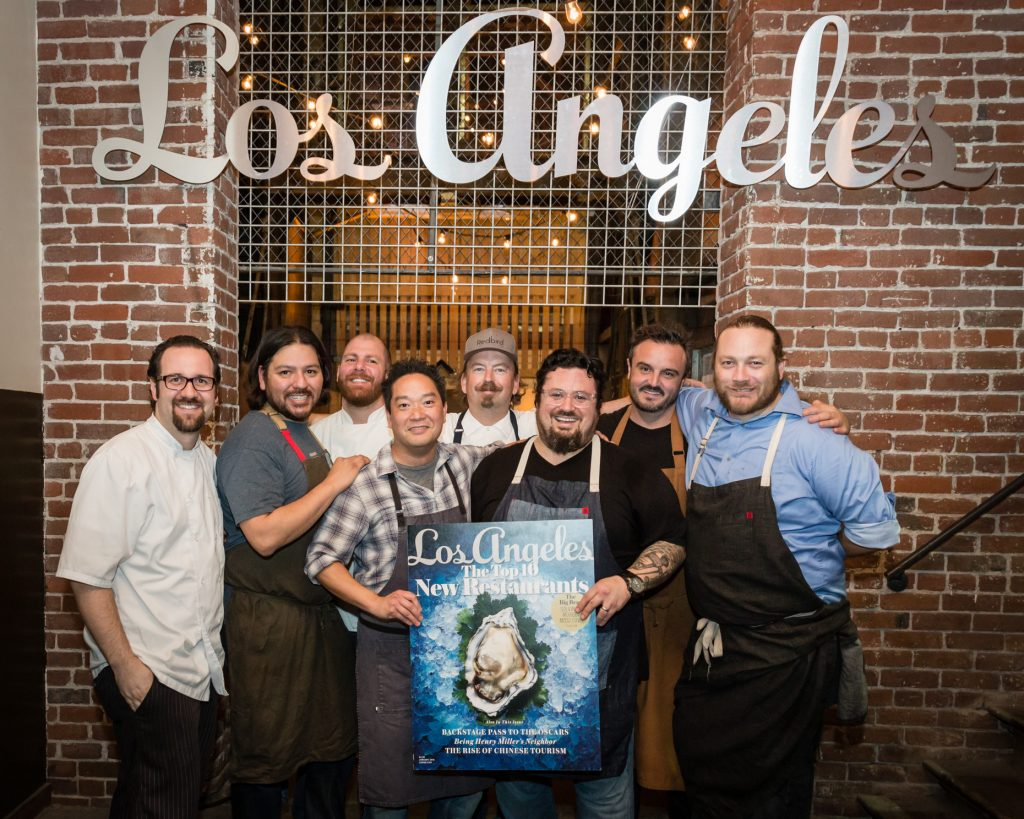 Participating chefs from Best New Restaurants 2016: Ted Hopson, Ray Garcia, Michael Fiorelli, Bryant Ng, Neal Fraser, Bruce Kalman, Brendan Collins, and Kris Morningstar