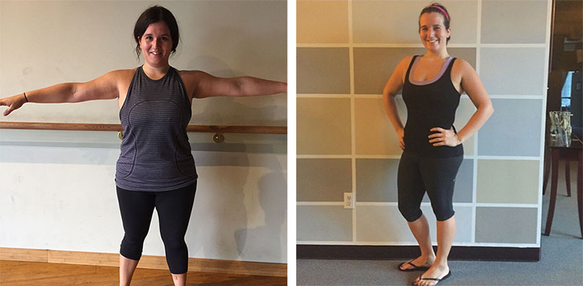 Camila Quiroga before and after bridal boot camp