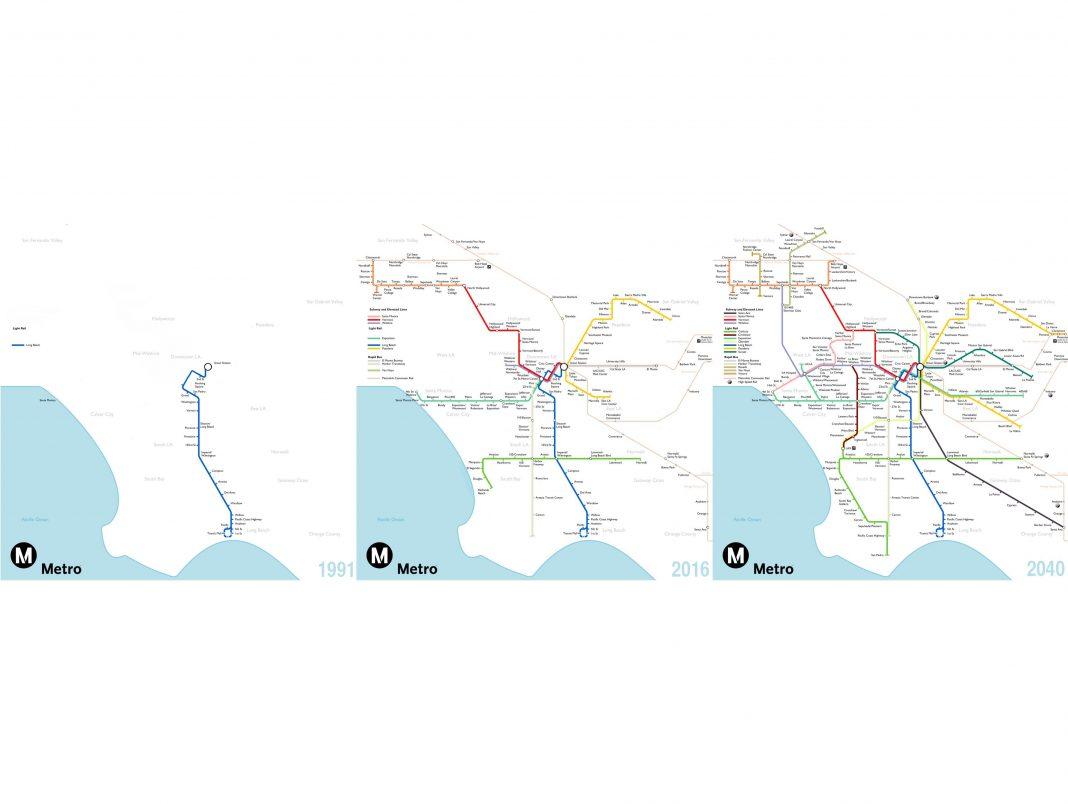The Progress of Public Transportation in Los Angeles: 1990
