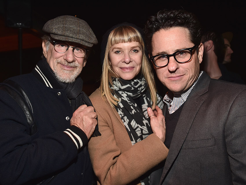 Steven Spielberg, Kate Capshaw, and J.J. Abrams