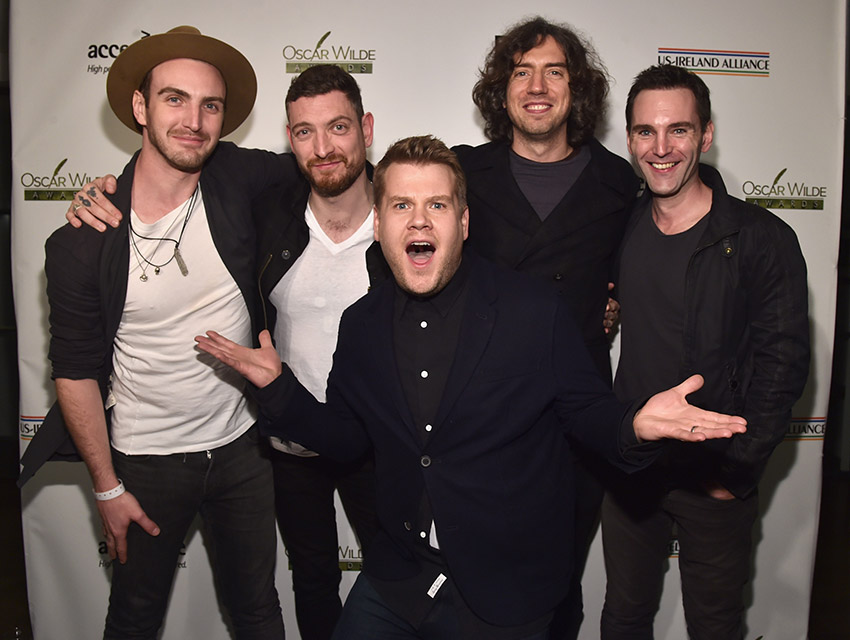 James Corden and Snow Patrol