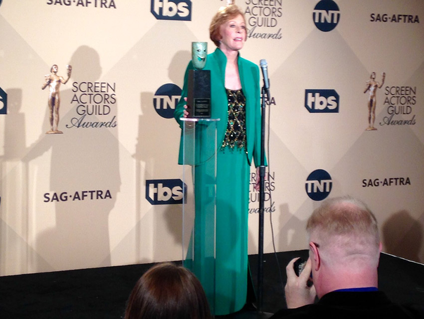 Carol Burnett backstage at the SAG Awards