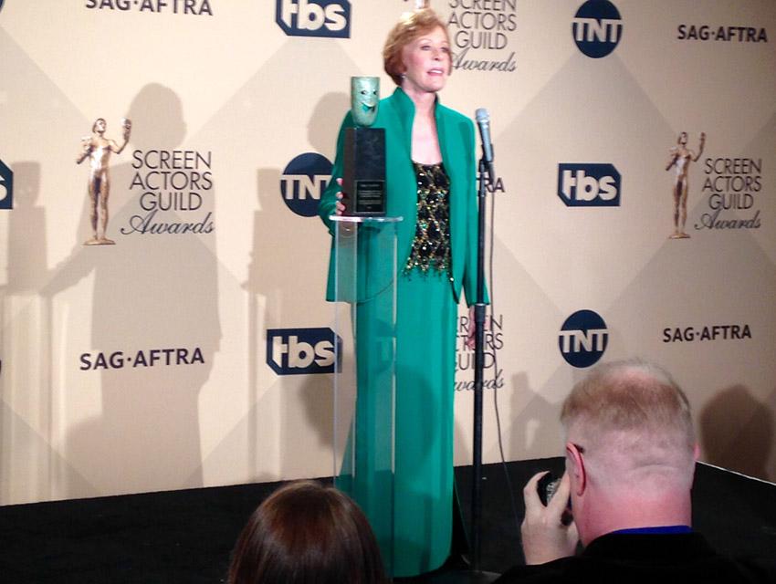 Carol Burnett backstage at the SAG Awards