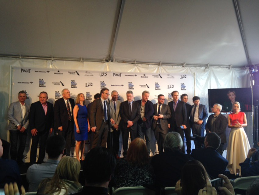 The director, cast, and journalists represented in the film Spotlight