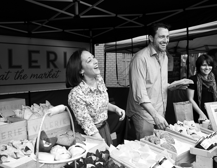 Valerie Gordon and Stan Weightman Jr. at their original booth at the Hollywood Farmers' Market