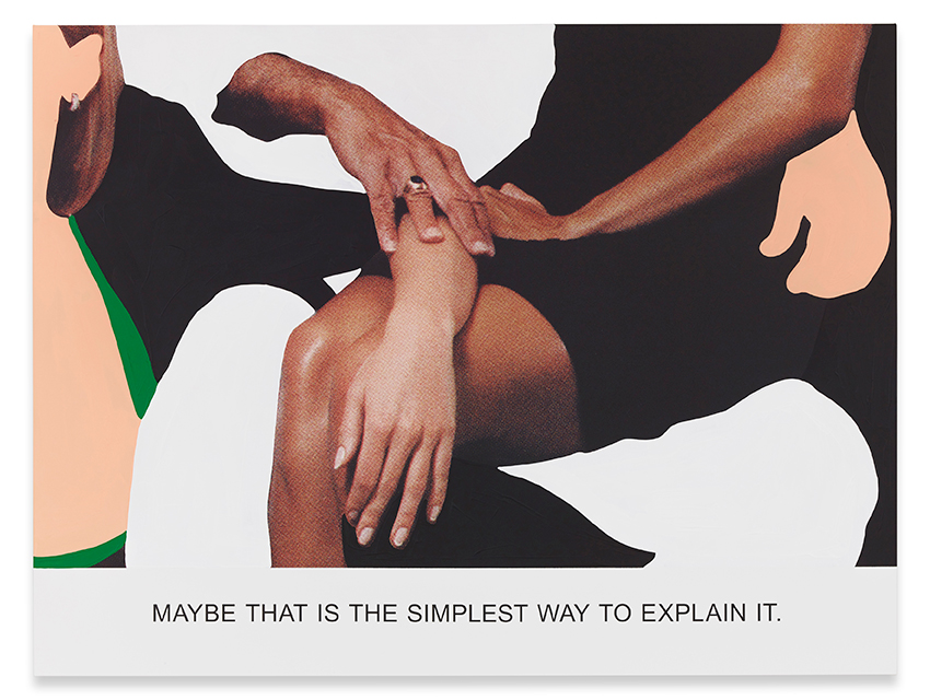 """iMaybe That is The Simplest Way...,"" 2015. Varnished inkjet print on canvas with acrylic paint. 137,5 x 182,6 x 4,1 cm 54 1/8 x 71 7/8 x 1 5/8 inches. Copyright John Baldessari"
