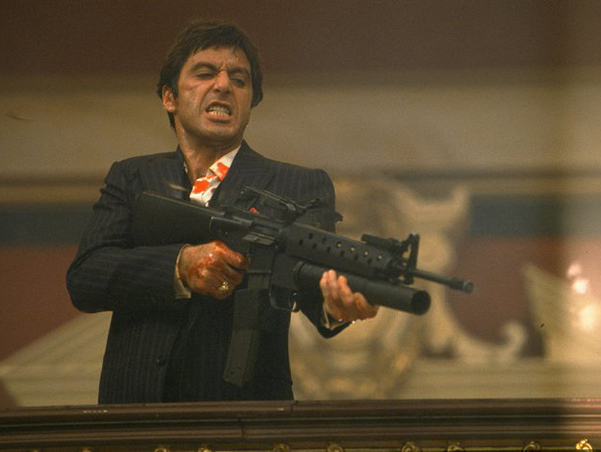Scarface. So violent right now.