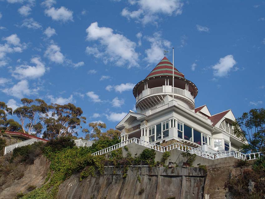 The historical Holly Hill House, recognizable by its signature cupola, was built by civil engineer Peter Gano in the 1890s