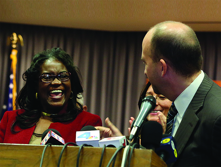 LAUSD board member Steve Zimmer introduces Michelle King as the new superintendent in January