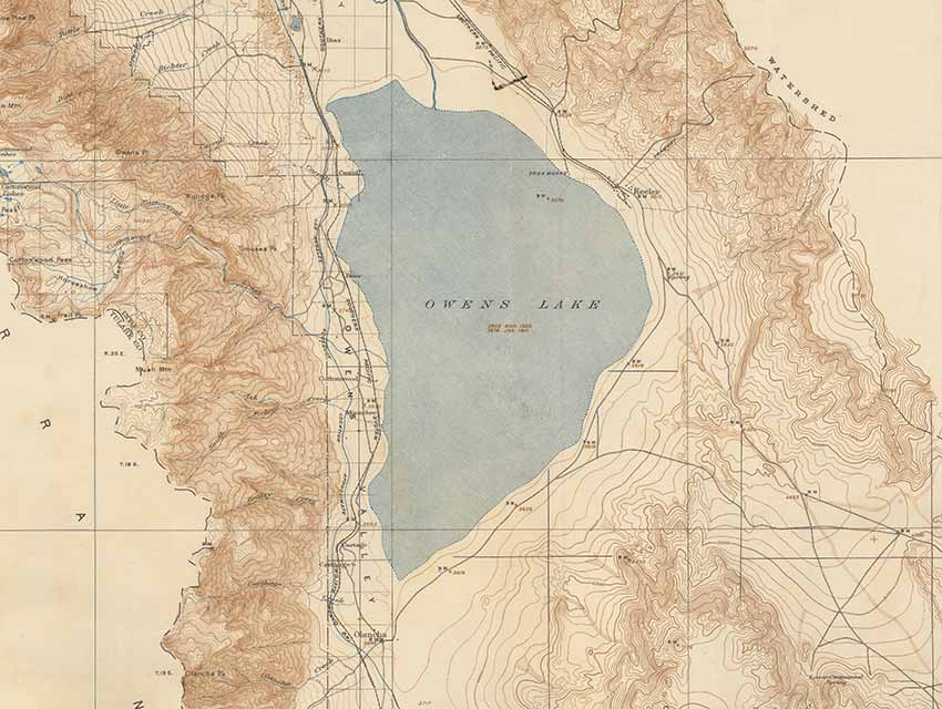 Owens Lake and Vicinity, Geological Survey, 1939; surveyed between 1905-1911