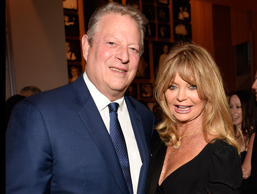 Al Gore and Goldie Hawn