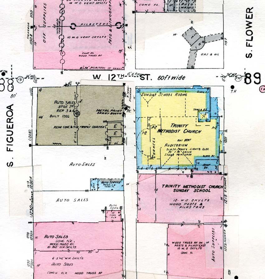 Sanborn Fire Insurance Atlas, Volume 1 Sheet 74, 1935 and 1950