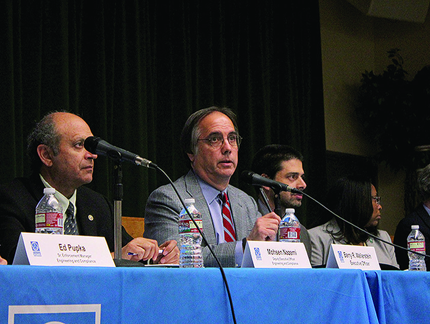 Republicans on the AQMD who ousted Barry Wallerstein (center) cited the need to look at the economic impact of pollution-fighting measures