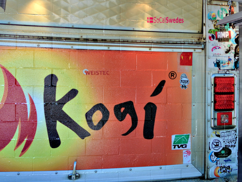 A high resolution photo stitch of a Kogi truck done by Eric Shin