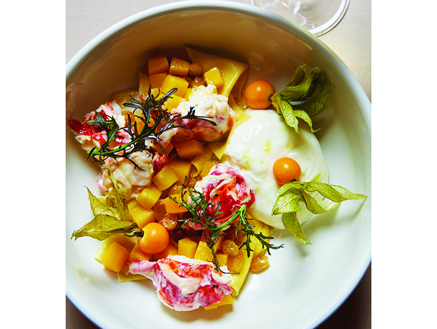 Mar'Sel's lobster pappardelle with burrata and butternut squash