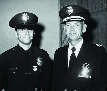 Beck in 1977 with his father, George