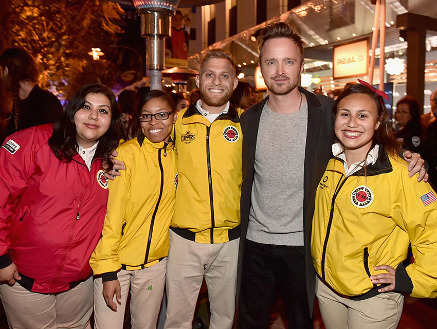 Aaron Paul and City Year AmeriCorp members