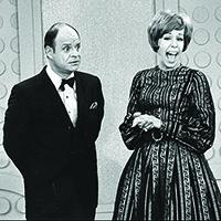 With Carol Burnett on her long-running TV show
