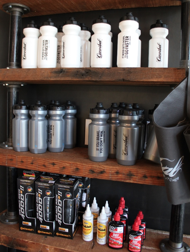 Bike supplies get their own space in the deli