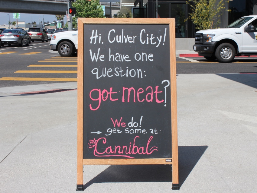 You've got a lot of things going for you Cannibal, but chalkboard humor is not one of them.