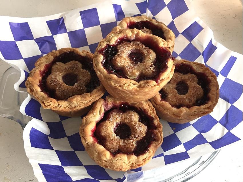 The prize-winning Triple-Berry Cabarnet Pie