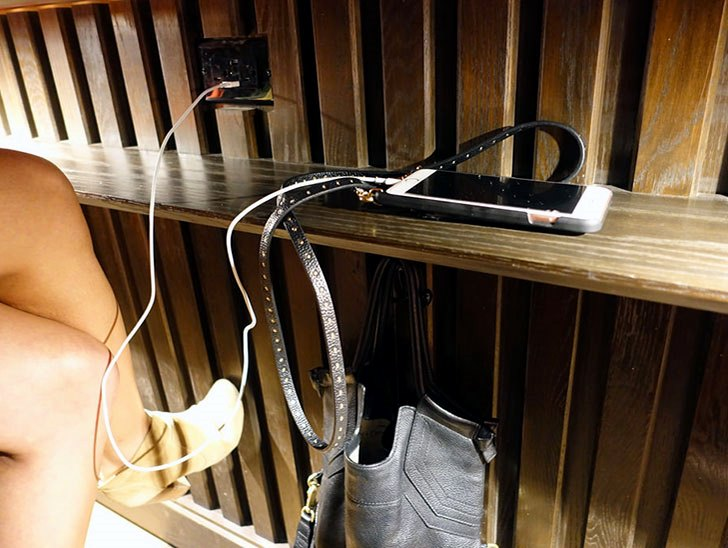 A spot to charge your phone.