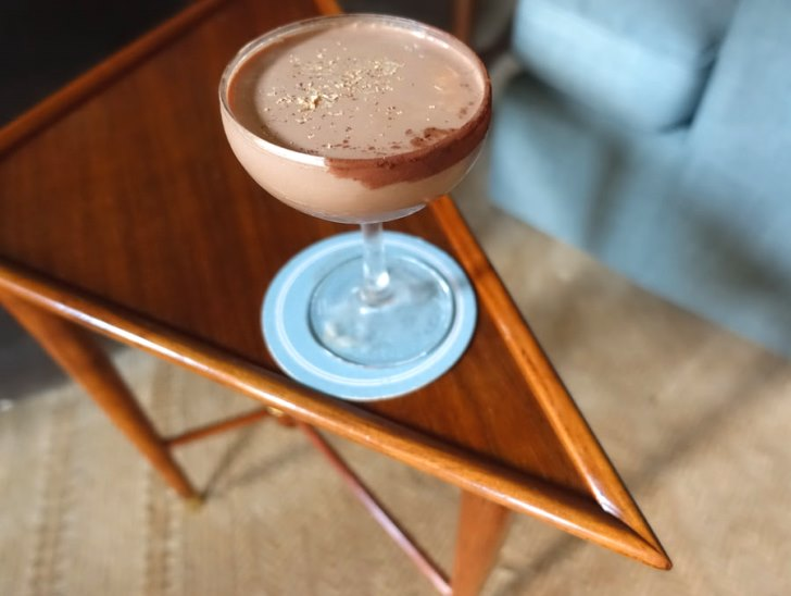 Garden Bar's chocolate martini variation: Holy Mole.