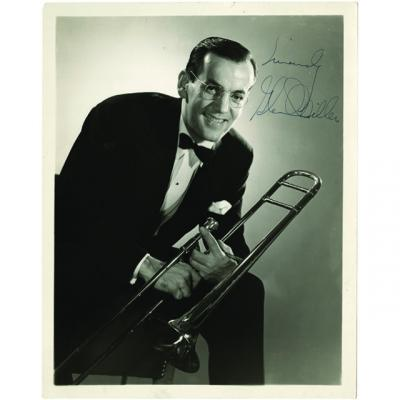 Autographed photo of Glenn Miller from the Marvin Paige collection