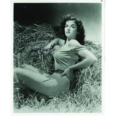 Autographed photo of Jane Russell from the Marvin Paige collection