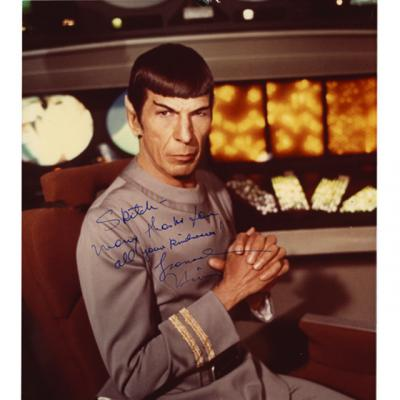 Autographed photo of Leonard Nimoy from the Marvin Paige collection