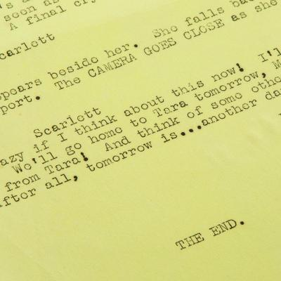 Gone With the Wind script from the Marvin Paige collection