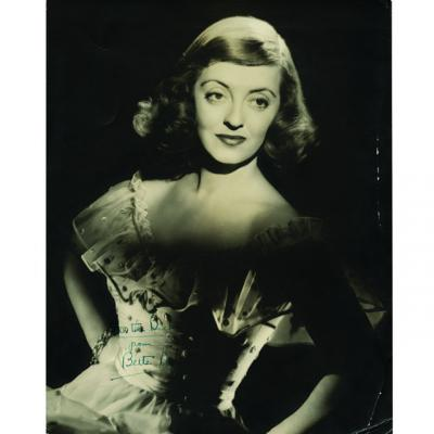 Autographed photo of Bette Davis from the Marvin Paige collection