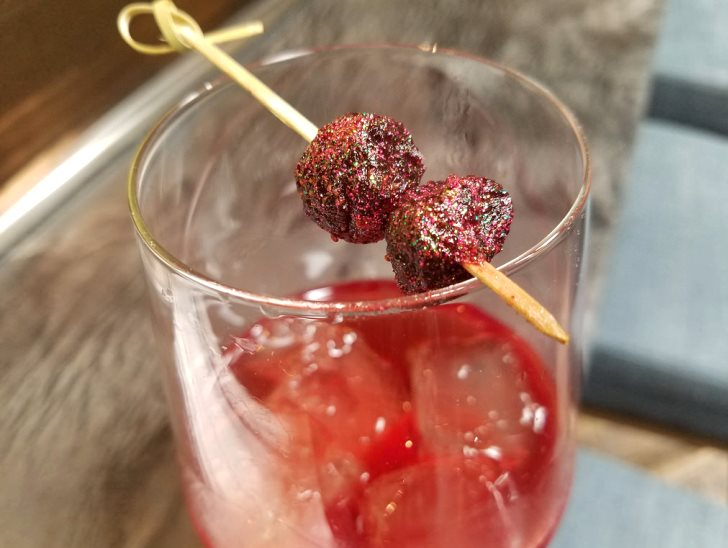 """Disco strawberries aka dehydrated strawberries with """"luster dust."""""""