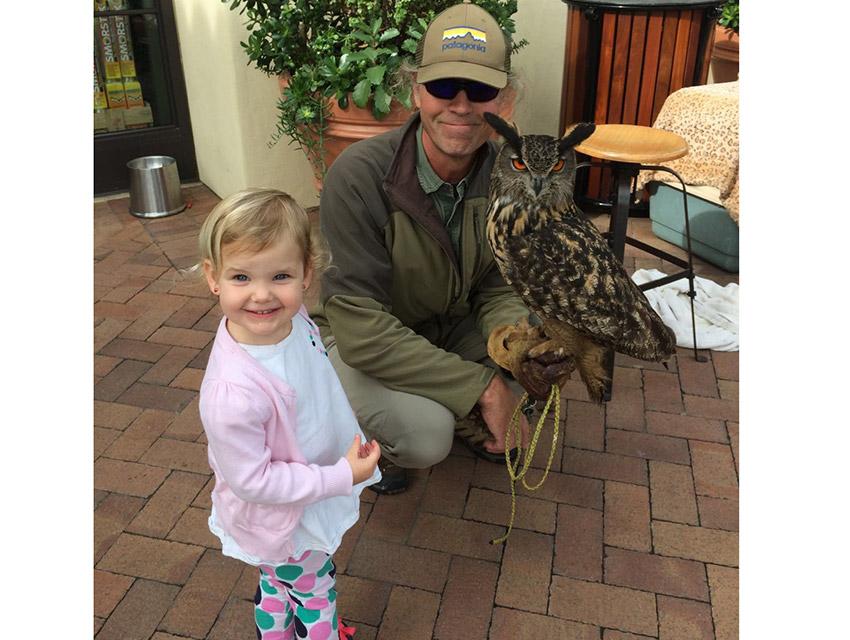 Joe Roy, Owlberg, and a resort guest